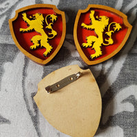Great House Game Of Thrones Brooch ↠ Lannister