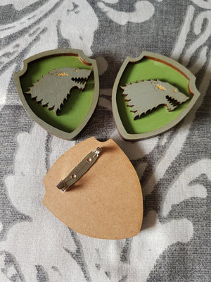 Great House Game Of Thrones Brooch ↠ Stark