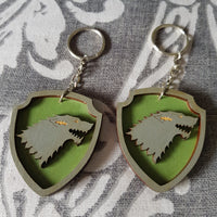 Great House Game Of Thrones Keyring ↠ Stark