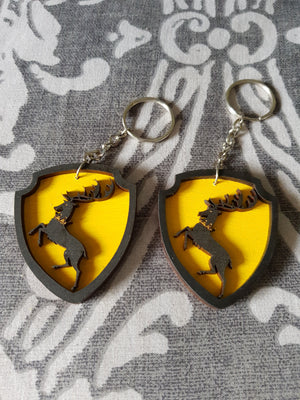 Great House Game Of Thrones Keyring ↠ Baratheon
