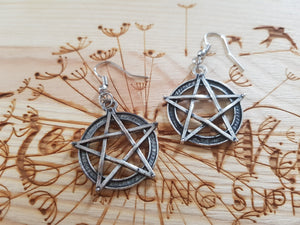 Rustic Pentagram Earrings