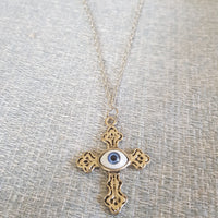 Evil Eye Cross Necklace