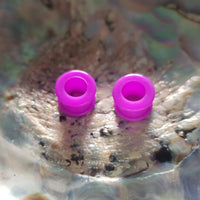Silicone Tunnels With Rim ↠ Purple ~ Pair