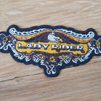 Lady Rider Biker Badge Patch
