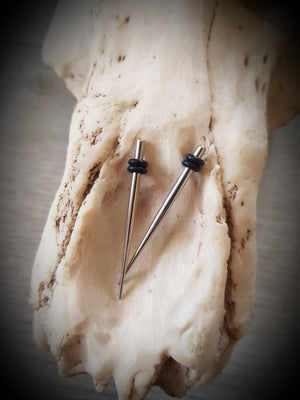 Surgical Steel Tapers ↠ Silver ~ Pair