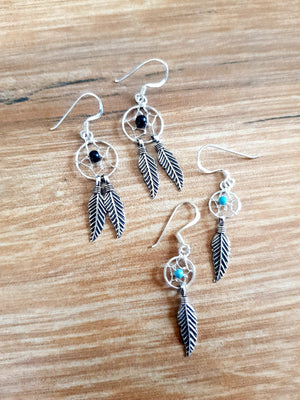 Dream Catcher Sterling Silver Earrings