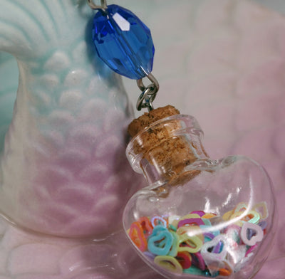 Heart Shaker Bottle Necklace