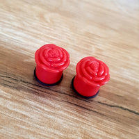 Rose Plugs ~ Pair
