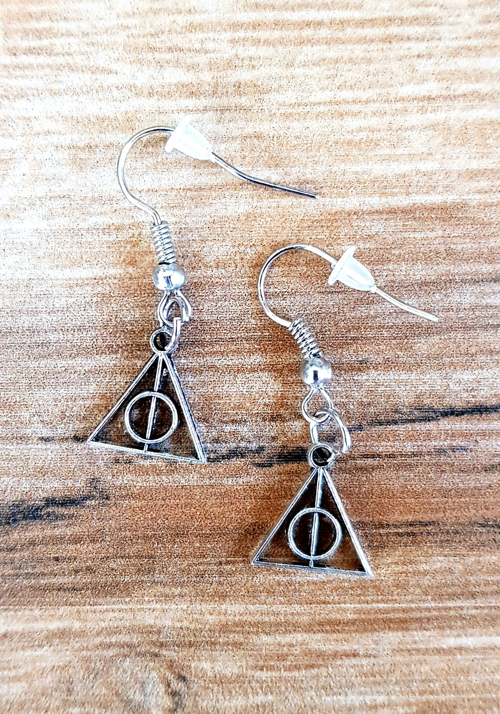 Tiny Deathly Hallows Harry Potter Earrings