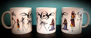 Jack & Sally Nightmare Before Christmas Coffee Mug