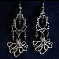 Octopus Steampunk Chandelier Earrings