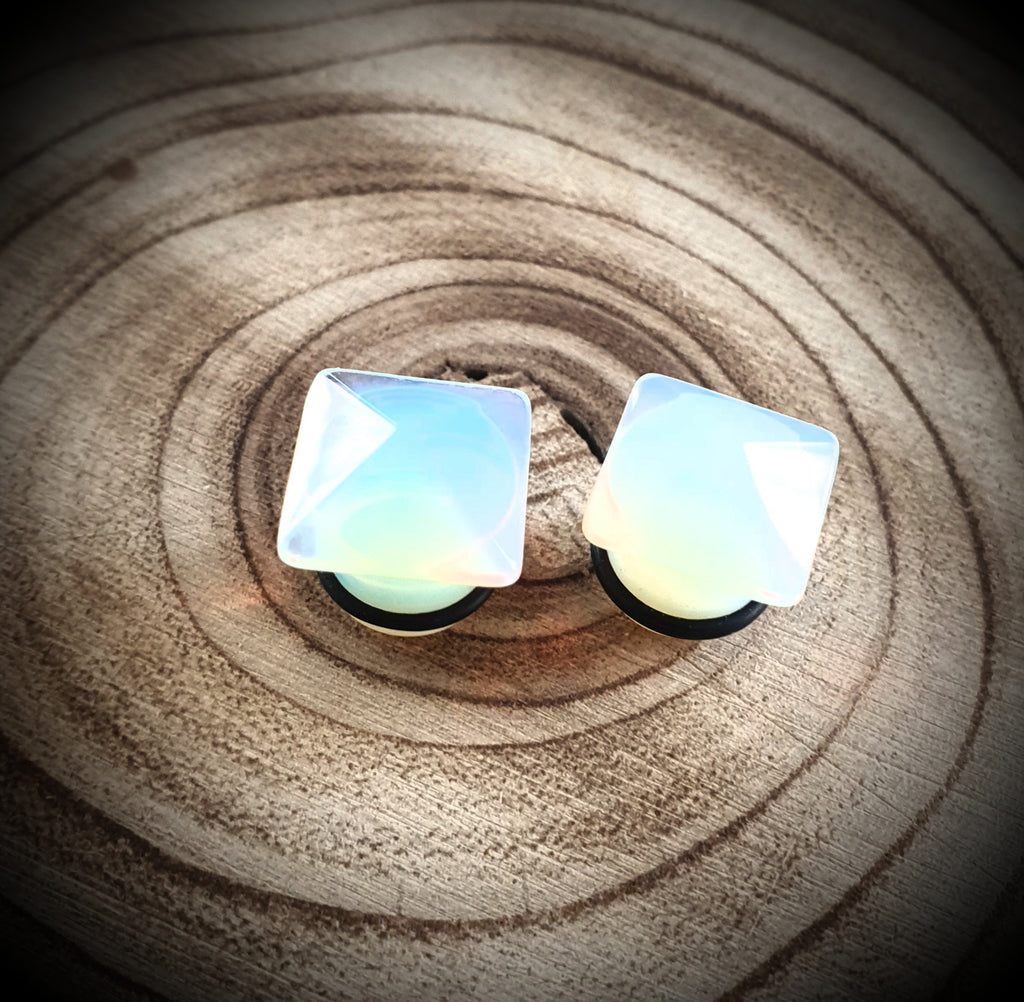 Opalite Pyramid Plugs ~ Pair