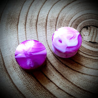 Marble Plugs ↠ Purple ~ Pair