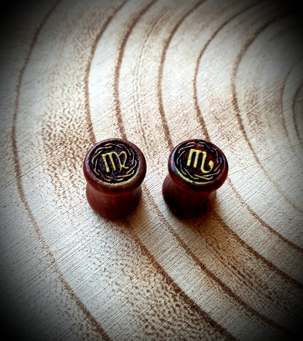 Star Sign Wooden Plugs ~ Single
