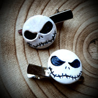 Jack Skellington Nightmare Before Christmas Hairclips ~ Set Of Two