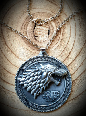 Stark Winter Is Coming Game Of Thrones Necklace