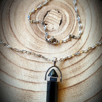 Black Agate Crystal Necklace