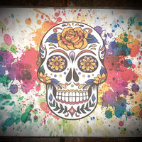 Sugar Skull Paint Splatter Placemat
