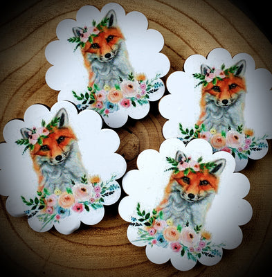 Flowery Fox Brooch