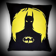 Batman Scatter Cushion ↠ Yellow On Black