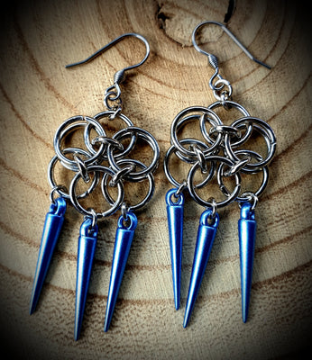 Enchanted Spike Chainmaille Earrings