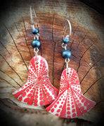 Red Shell Mother Of Pearl Earrings
