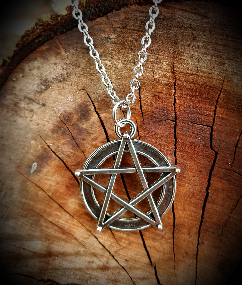 Rustic Pentagram Necklace