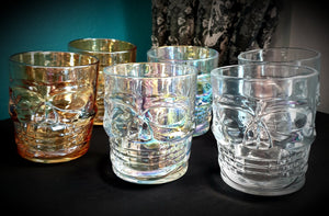 Glass Skull Whiskey Glass