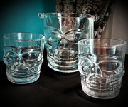 Glass Skull Ice Bucket & Whiskey Glasses Combo