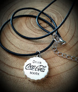 Coca-Cola Cap Leather Necklace