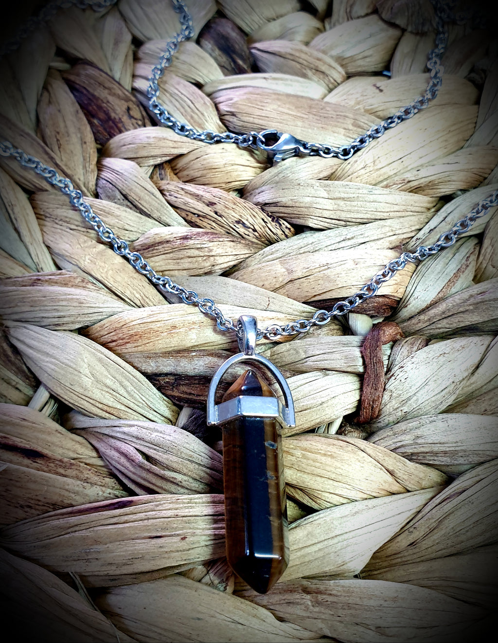 Tiger Eye Organic Crystal Necklace