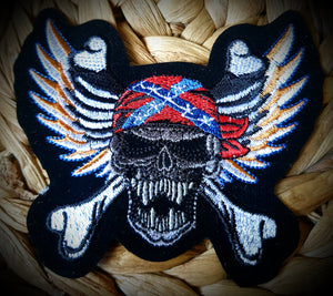 Southern Skull Biker Badge Patch
