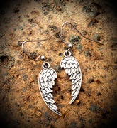 Angel Wing Heart Earrings