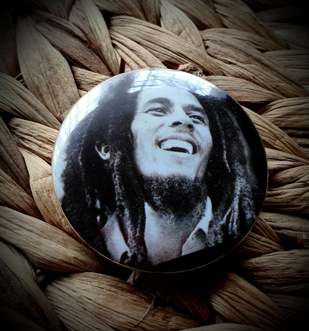 Bob Marley Button Badge Brooch
