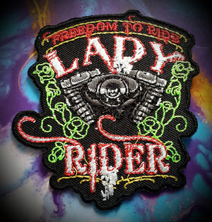 Lady Rider Badge Patch