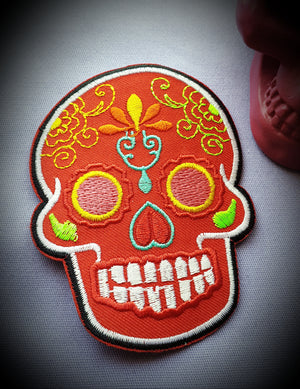 Sugar Skull Badge Patch