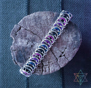 Galaxy Dragon Vertebrae Chainmaille Bracelet