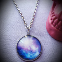 Galaxy Cabochon Steel Necklace