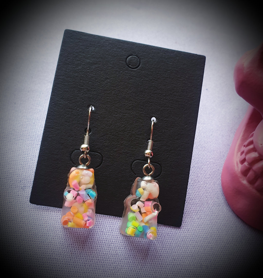Gummy Bear Sprinkle Earrings