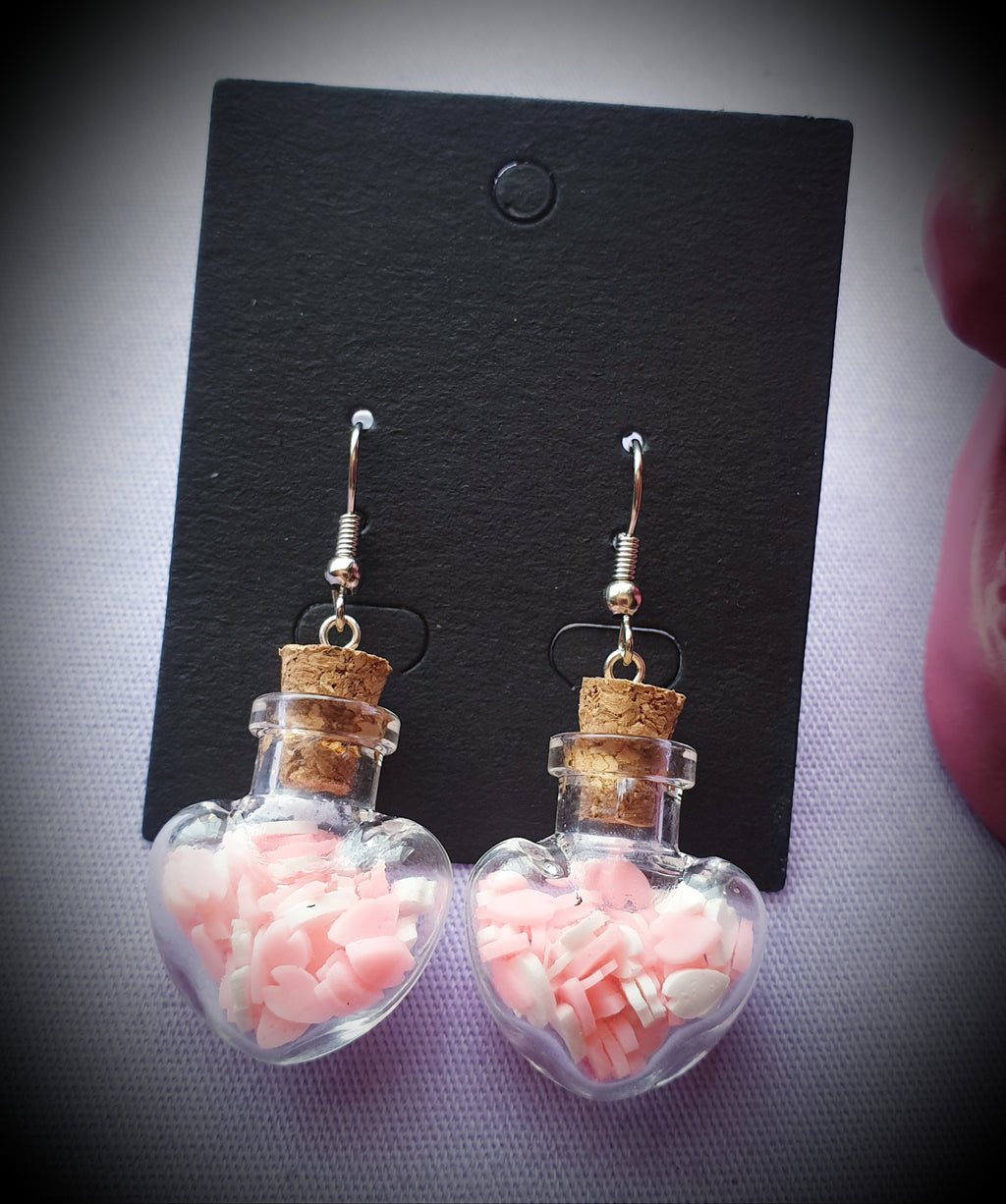 Love Potion Bottle Earrings