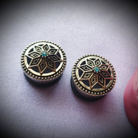 Ornate Mandala Plugs ~ Pair