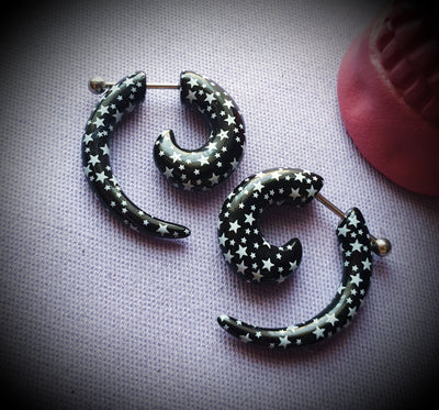 Star Faux Spiral Earrings