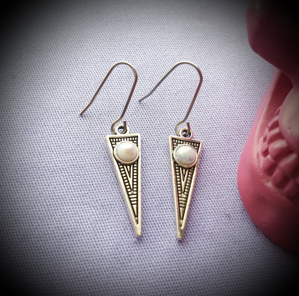 Dotwork Spike Earrings