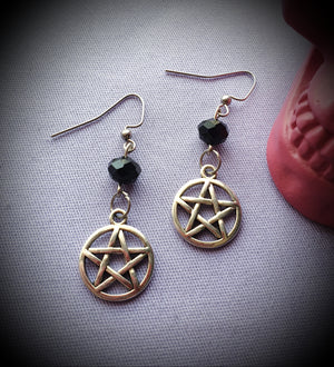 Pentagram Beaded Earrings