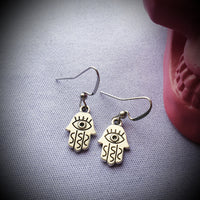 Hamsa Hand Eye Earrings