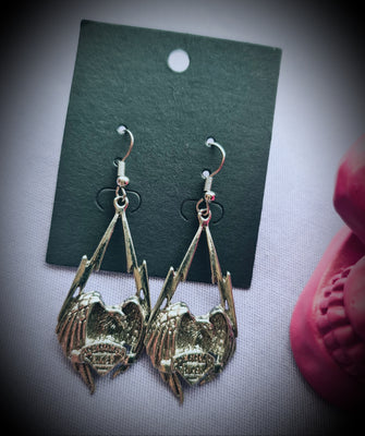 American Biker Eagle Earrings