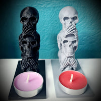Wise Skulls Candleholder Ornament