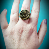 Sun & Moon Bronze Ring ~ Sold Individually