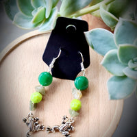 Frog Mixed Bead Earrings