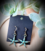 Antique Throwing Stars Earrings